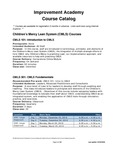 Improvement Academy Course Catalog (2018)