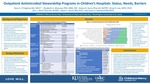 Outpatient Antimicrobial Stewardship Programs in Children's Hospitals: Status, Needs, Barriers