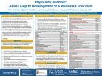 Physicians' Burnout: A First Step to Development of a Wellness Curriculum