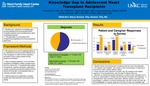 Knowledge Gap in Adolescent Heart Transplant Recipients