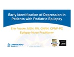Early Identification of Depression in Patients with Pediatric Epilepsy by Erin Day Fecske