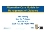Alternative Care Models for Management of Diabetes by Sarah Tsai