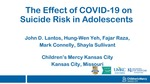 The Effect of COVID-19 on the Detection and Prevalence of Suicidality in Adolescents