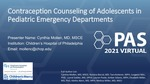Contraception counseling of adolescents seeking care in pediatric emergency departments