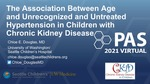 The Association Between Age and Unrecognized and Untreated Hypertension in Children with Chronic Kidney Disease